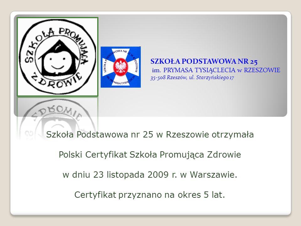 Certyfikat przyznano na okres 5 lat.