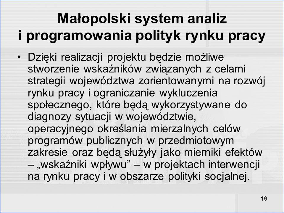 Małopolski system analiz i programowania polityk rynku pracy