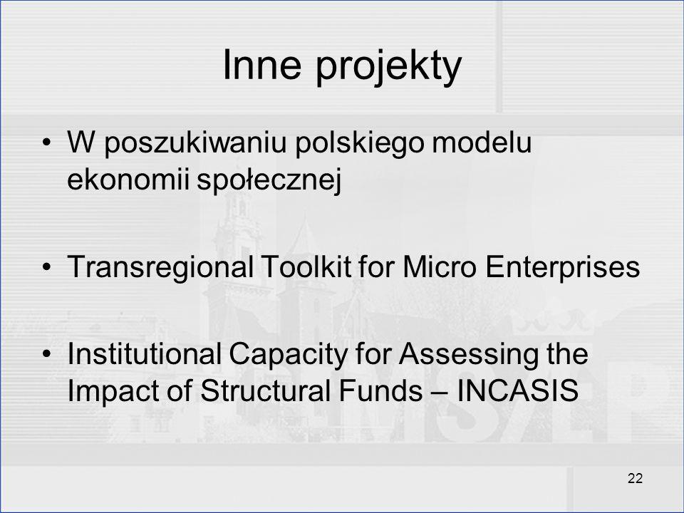 Inne projekty W poszukiwaniu polskiego modelu ekonomii społecznej