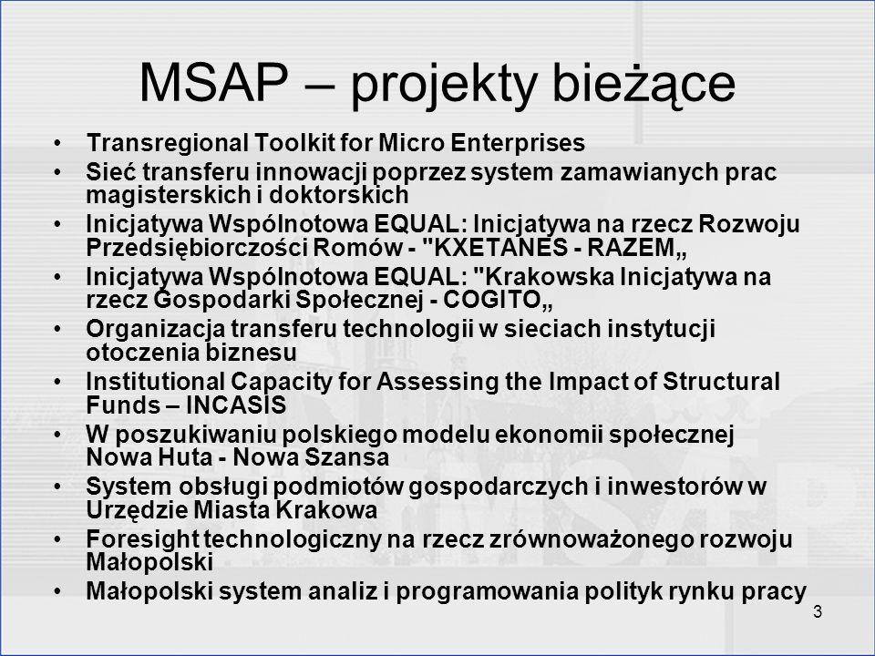 MSAP – projekty bieżące