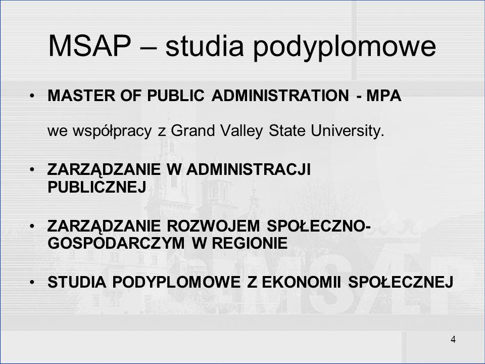 MSAP – studia podyplomowe