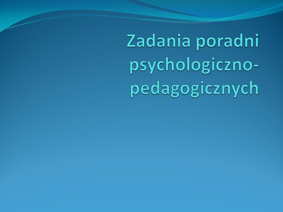 Zadania poradni psychologiczno-pedagogicznych