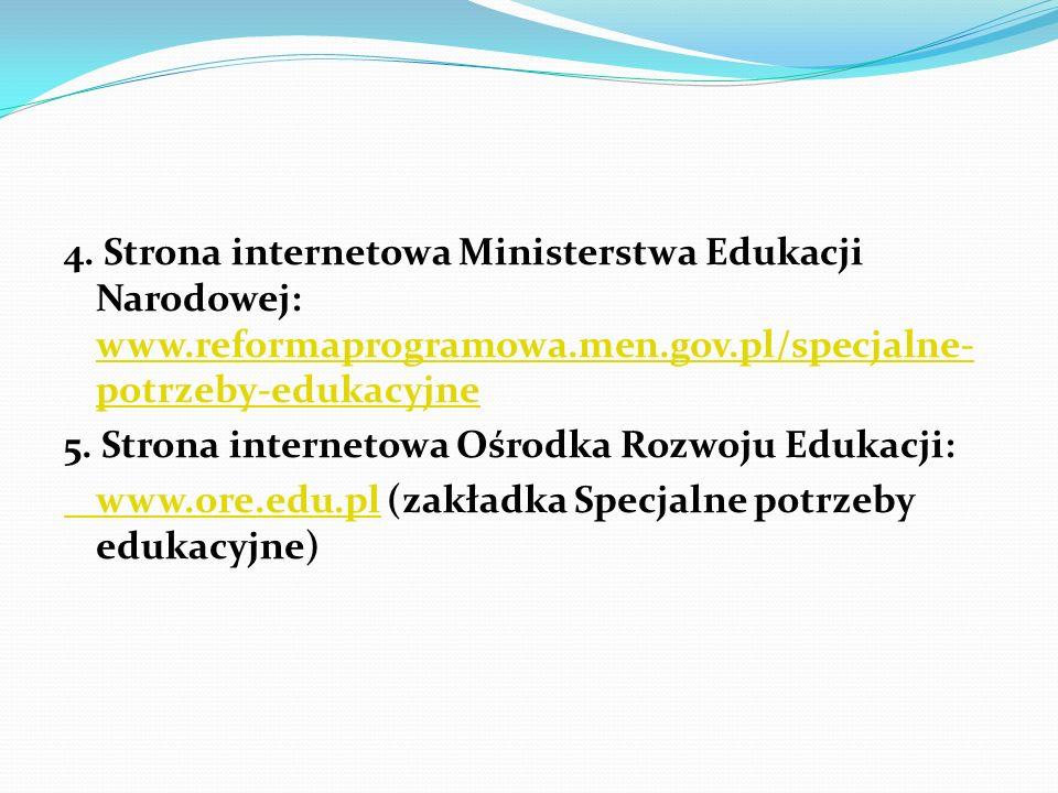 4. Strona internetowa Ministerstwa Edukacji Narodowej: www