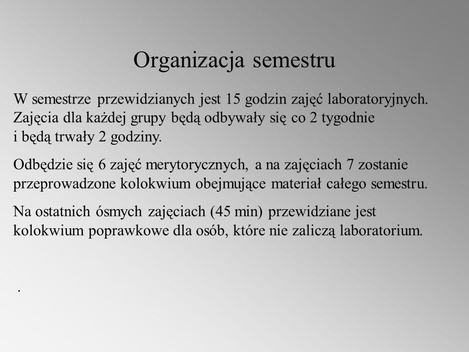 Organizacja semestru