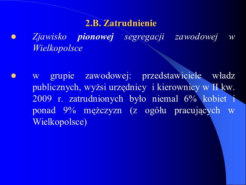2.B. Zatrudnienie Zjawisko pionowej segregacji zawodowej w Wielkopolsce.