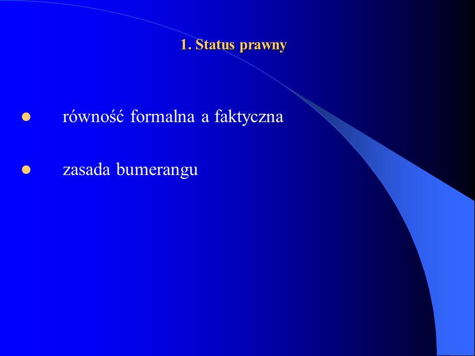 równość formalna a faktyczna zasada bumerangu