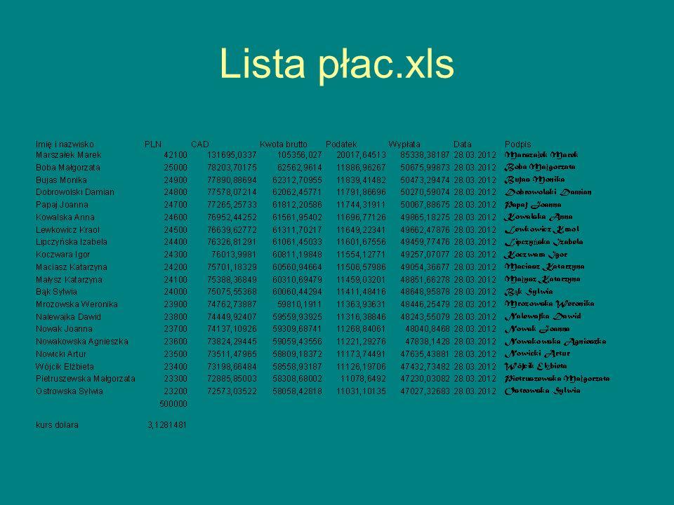 Lista płac.xls