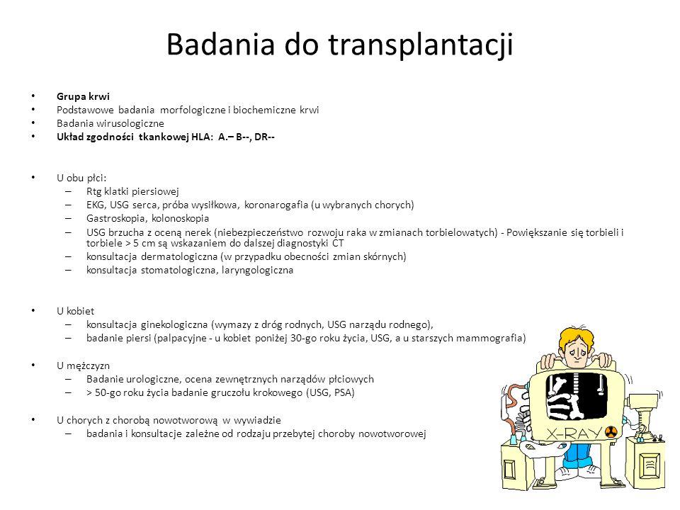 Badania do transplantacji