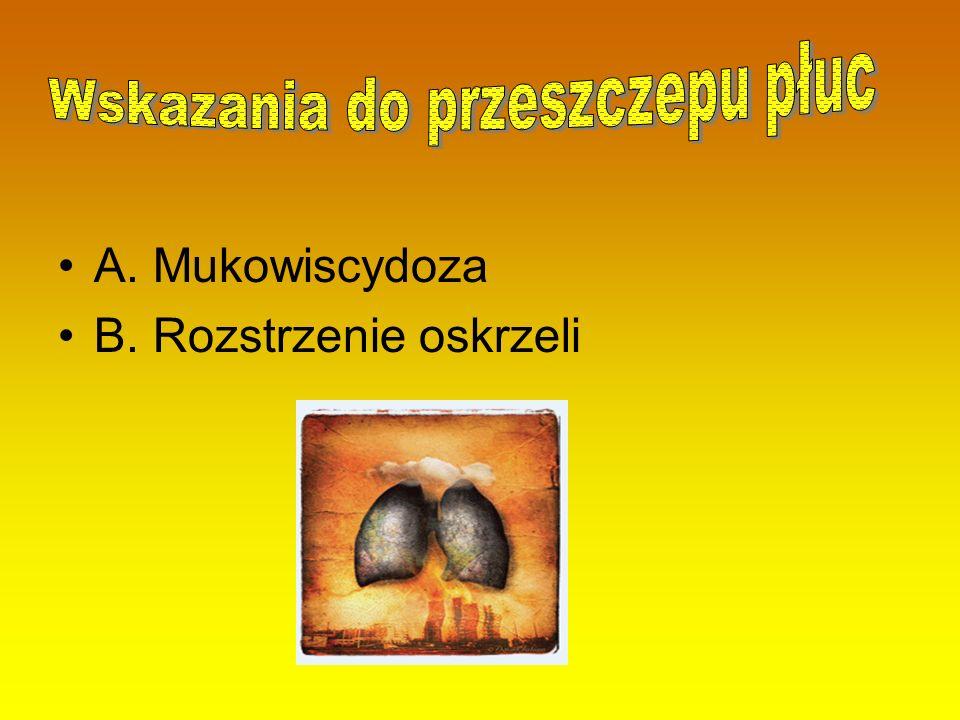 Wskazania do przeszczepu płuc