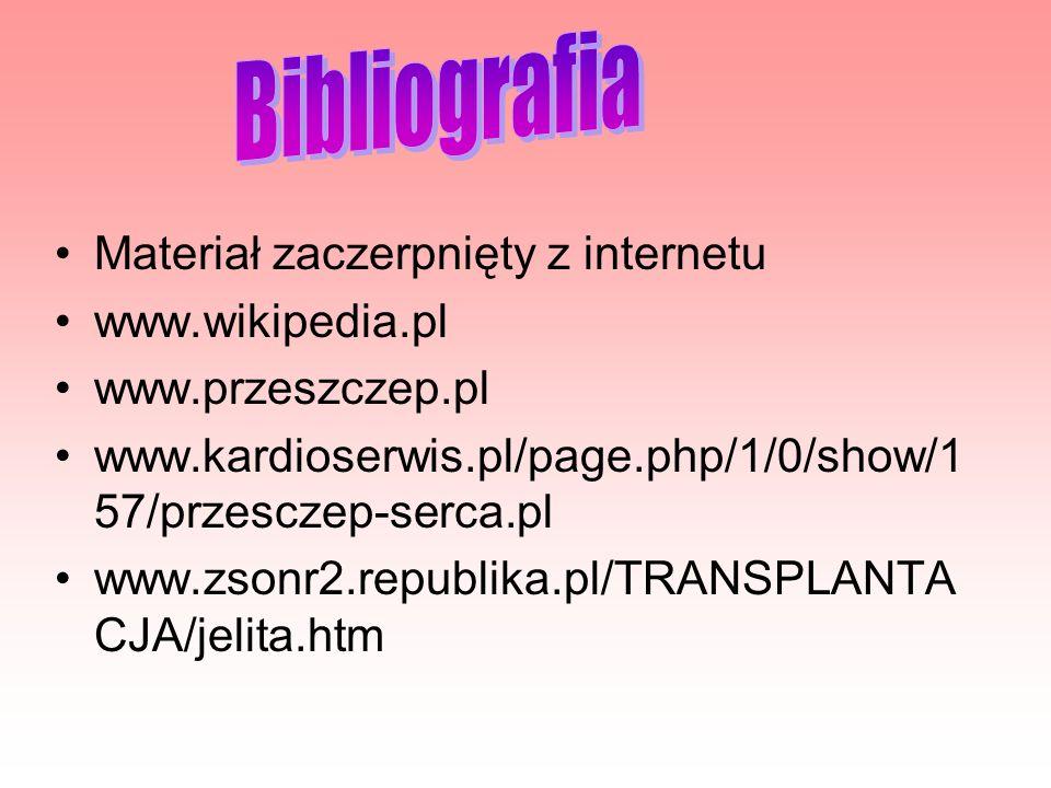 Bibliografia Materiał zaczerpnięty z internetu www.wikipedia.pl