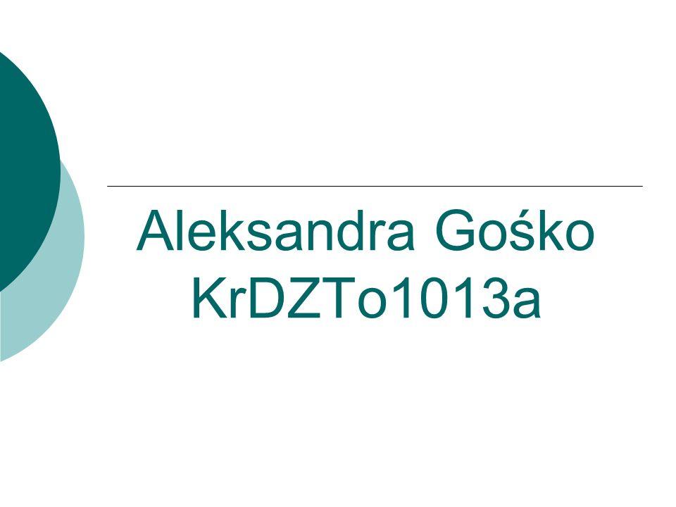 Aleksandra Gośko KrDZTo1013a