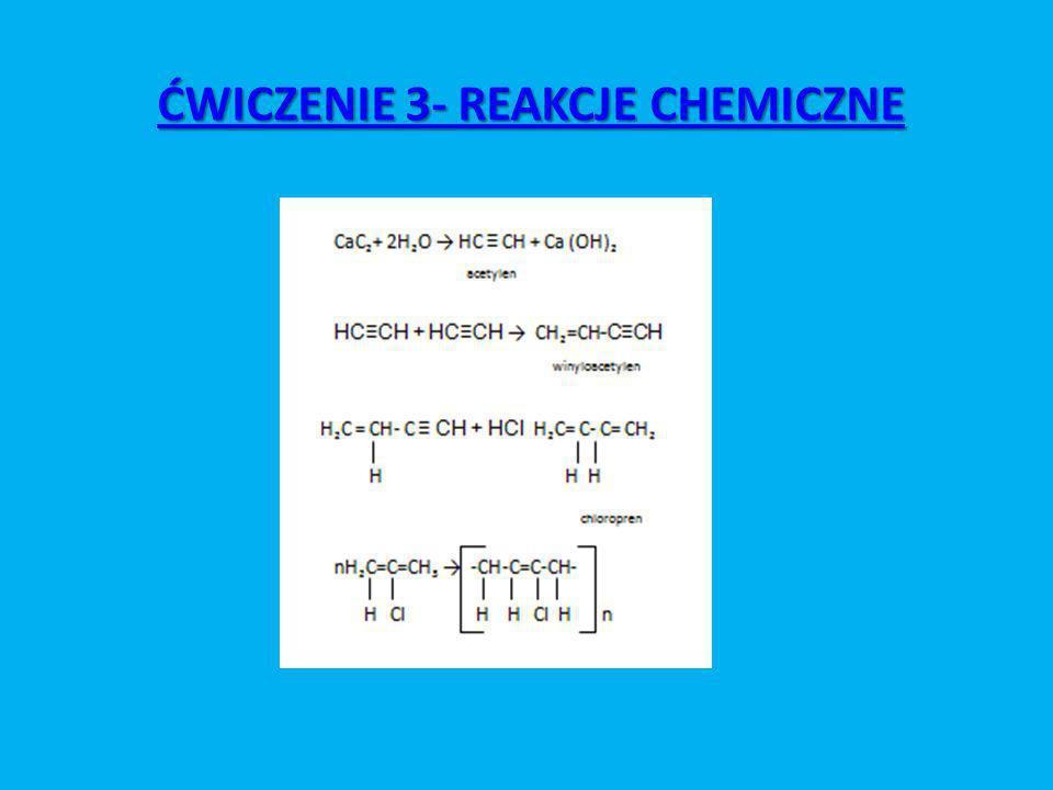 ĆWICZENIE 3- REAKCJE CHEMICZNE