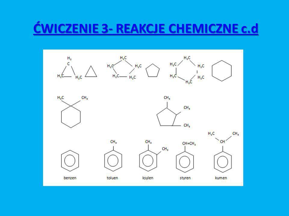 ĆWICZENIE 3- REAKCJE CHEMICZNE c.d
