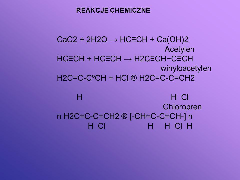 HC≡CH + HC≡CH → H2C≡CH−C≡CH winyloacetylen