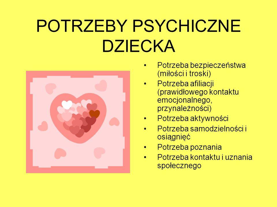 POTRZEBY PSYCHICZNE DZIECKA