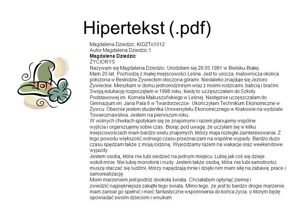 Hipertekst (.pdf) Magdalena Dziedzic, KrDZTo1012