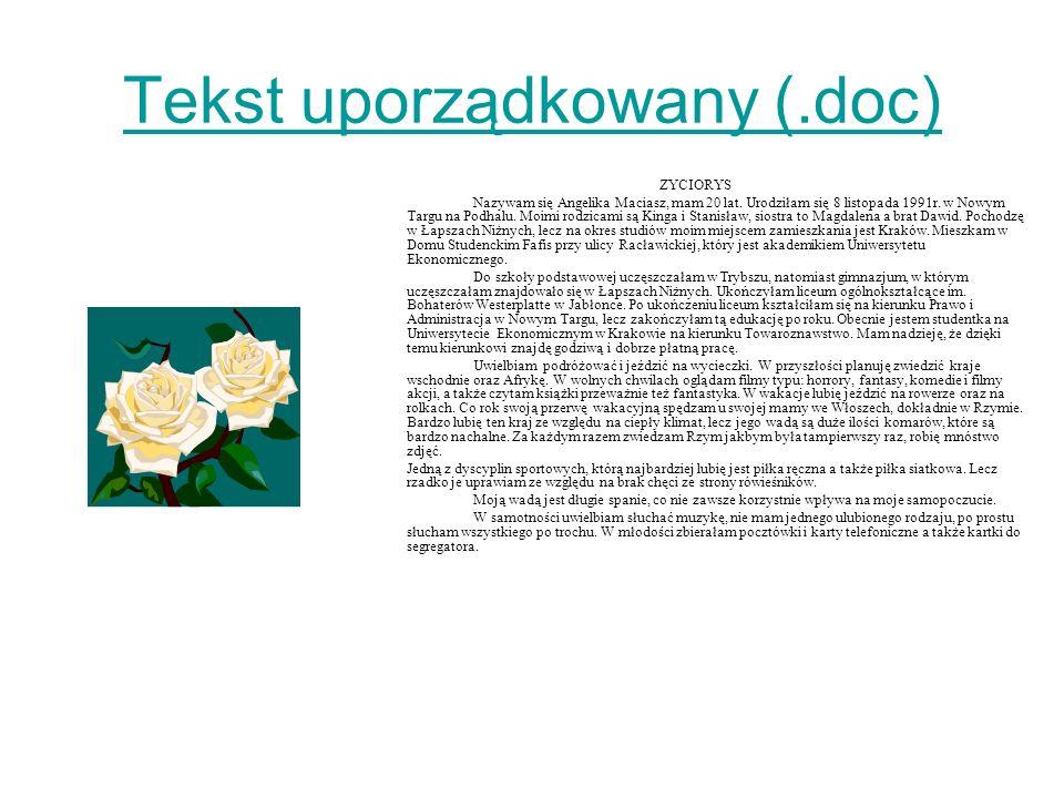 Tekst uporządkowany (.doc)