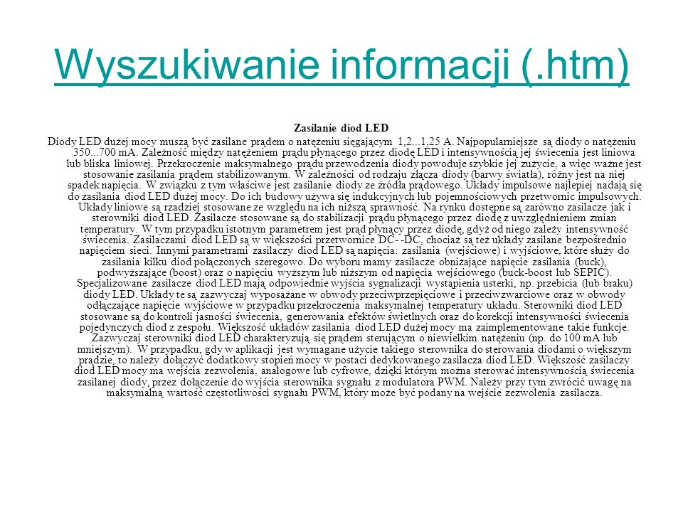 Wyszukiwanie informacji (.htm)