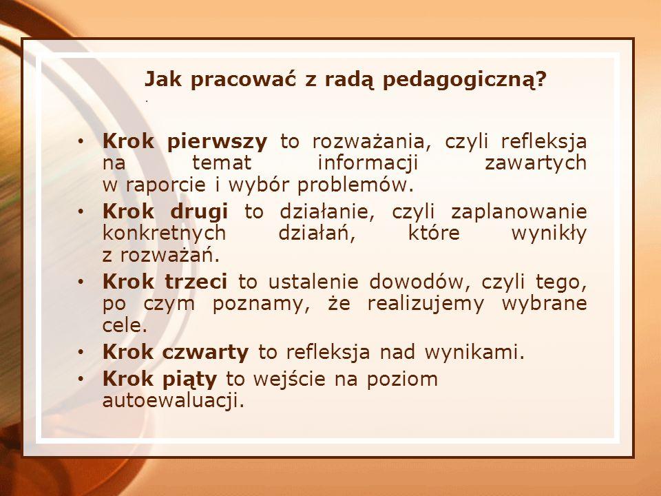 Jak pracować z radą pedagogiczną .