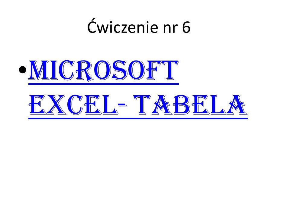 Microsoft Excel- Tabela