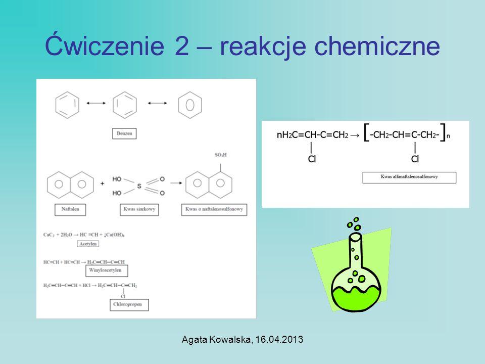 Ćwiczenie 2 – reakcje chemiczne