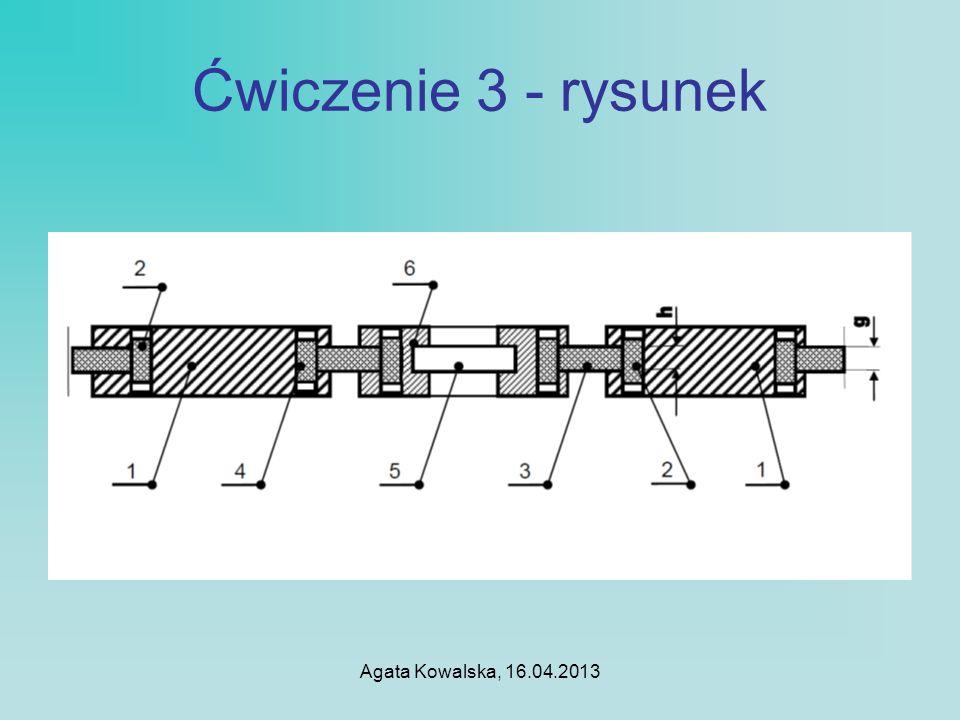 Ćwiczenie 3 - rysunek Agata Kowalska, 16.04.2013