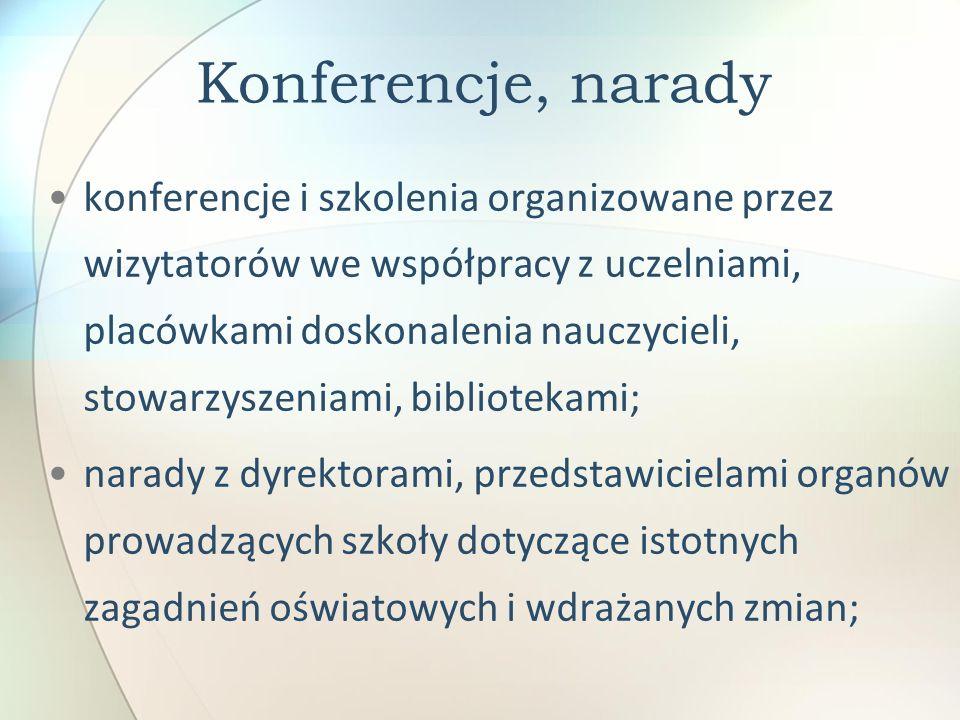 Konferencje, narady