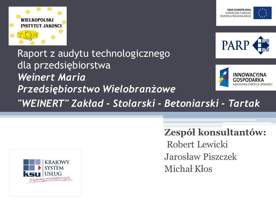 Zespół konsultantów: Robert Lewicki Jarosław Piszczek Michał Kłos