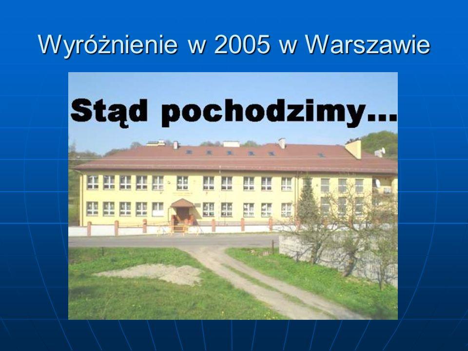 Wyróżnienie w 2005 w Warszawie
