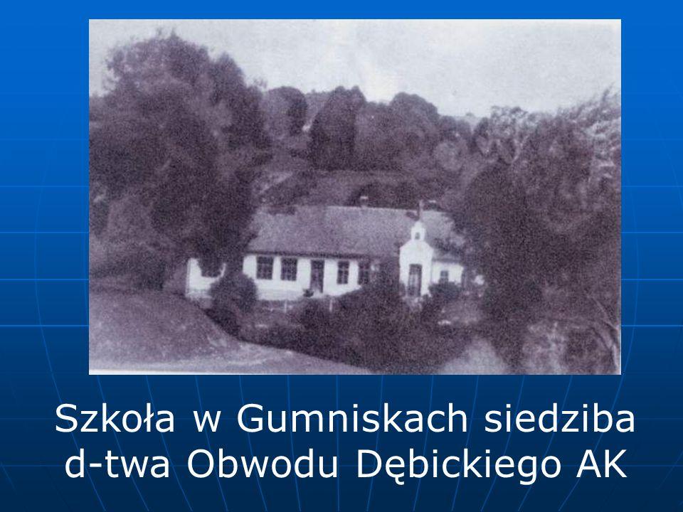 Szkoła w Gumniskach siedziba d-twa Obwodu Dębickiego AK