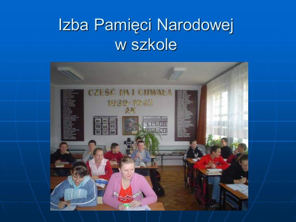 Izba Pamięci Narodowej w szkole