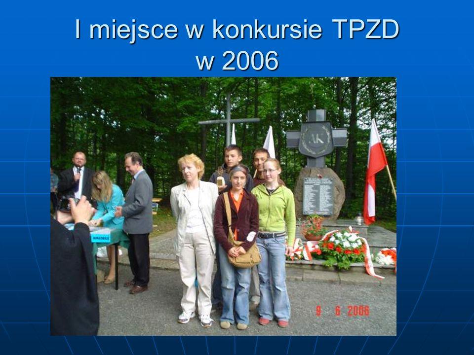 I miejsce w konkursie TPZD w 2006