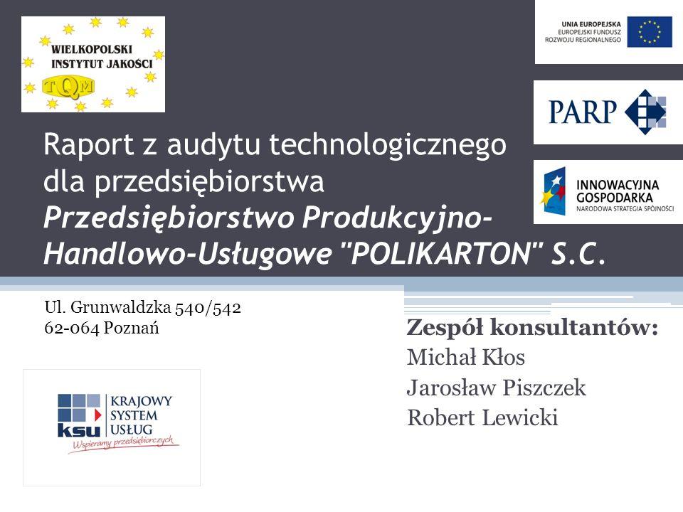 Zespół konsultantów: Michał Kłos Jarosław Piszczek Robert Lewicki