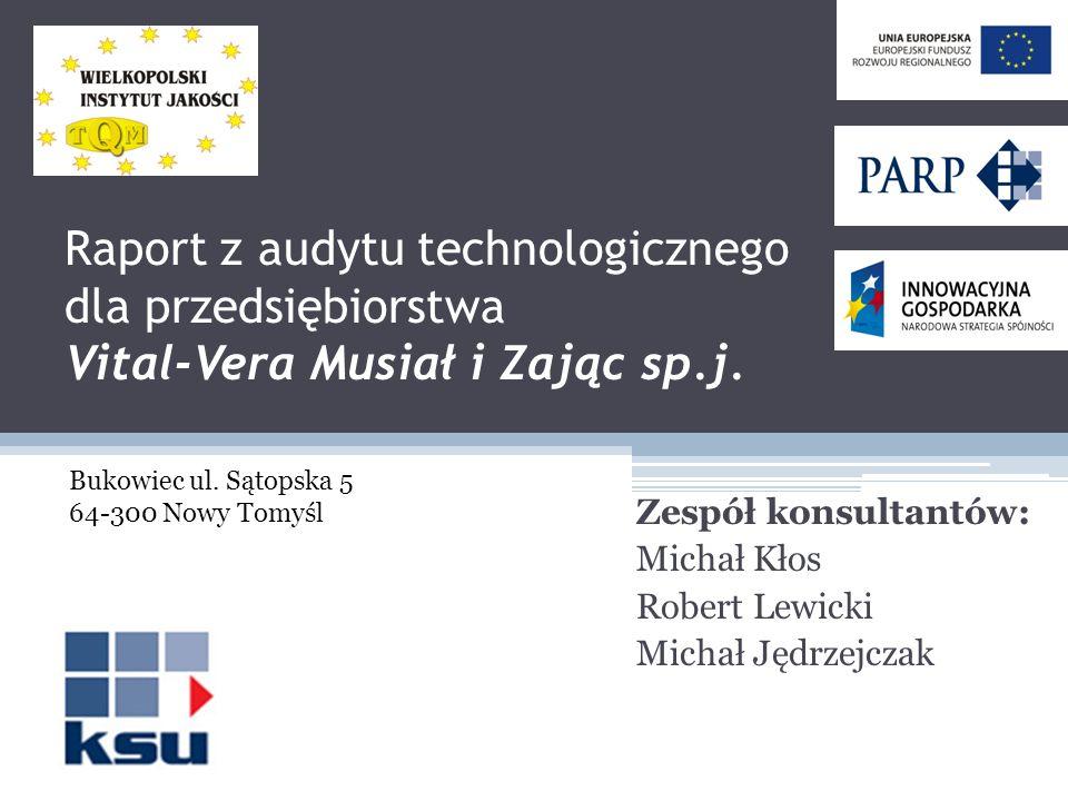 Zespół konsultantów: Michał Kłos Robert Lewicki Michał Jędrzejczak