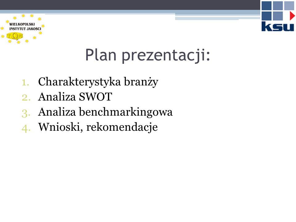 Plan prezentacji: Charakterystyka branży Analiza SWOT