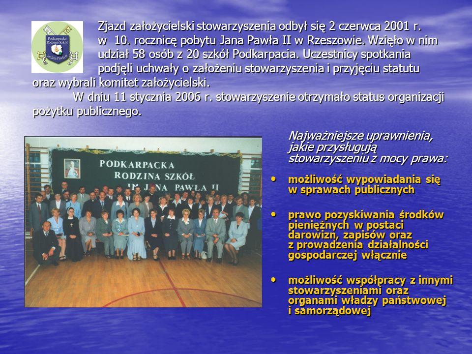 Zjazd założycielski stowarzyszenia odbył się 2 czerwca 2001 r. w 10