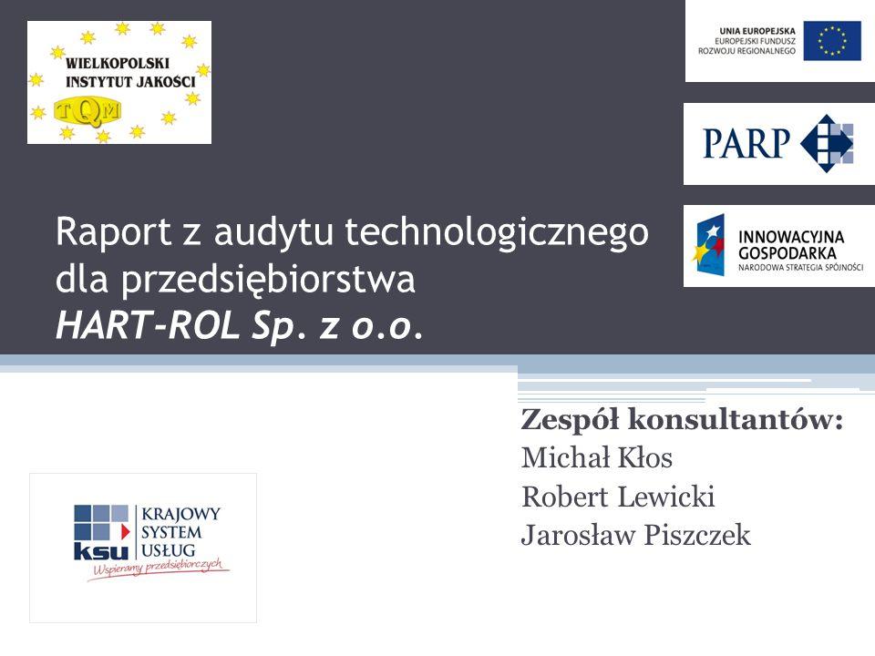 Zespół konsultantów: Michał Kłos Robert Lewicki Jarosław Piszczek