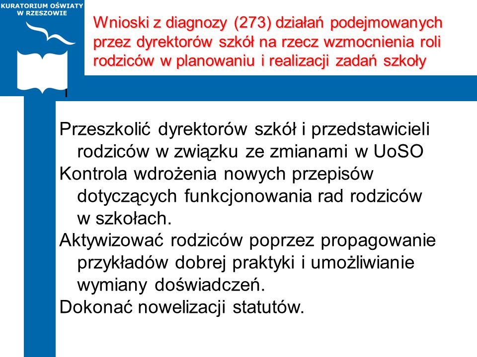 Dokonać nowelizacji statutów.
