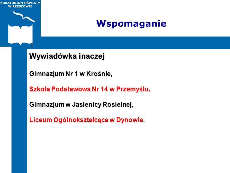 Wspomaganie Wywiadówka inaczej Gimnazjum Nr 1 w Krośnie,
