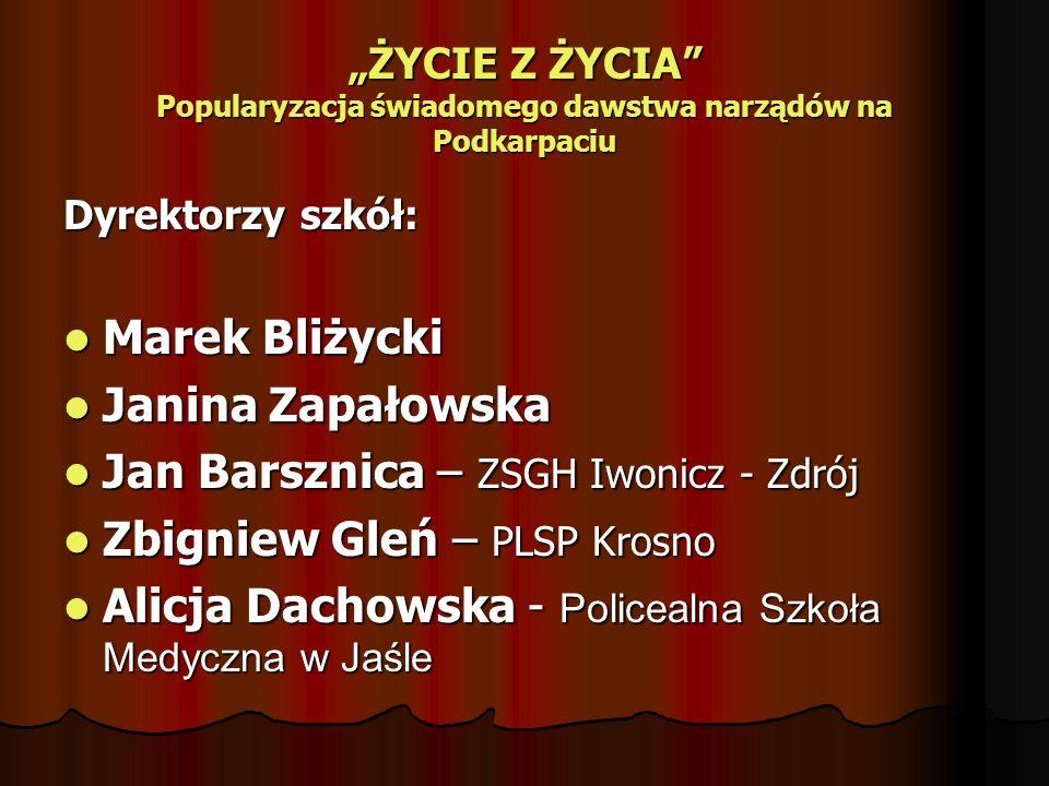 Jan Barsznica – ZSGH Iwonicz - Zdrój Zbigniew Gleń – PLSP Krosno