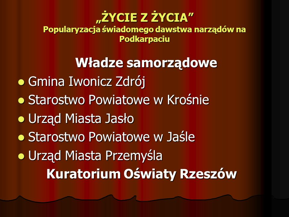 Starostwo Powiatowe w Krośnie Urząd Miasta Jasło