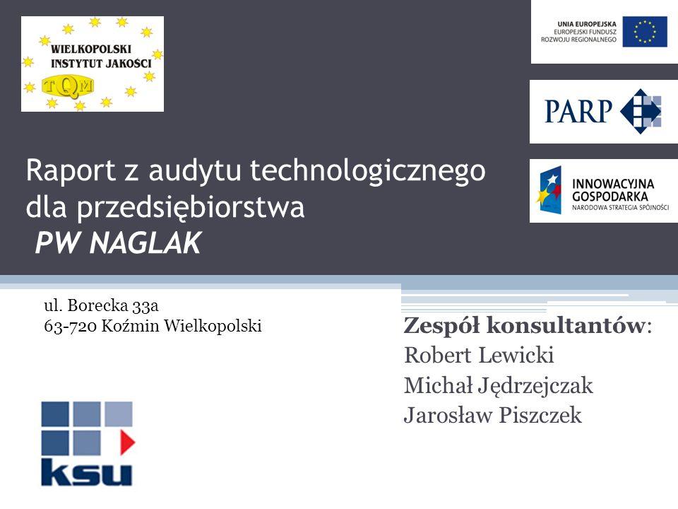 Raport z audytu technologicznego dla przedsiębiorstwa PW NAGLAK
