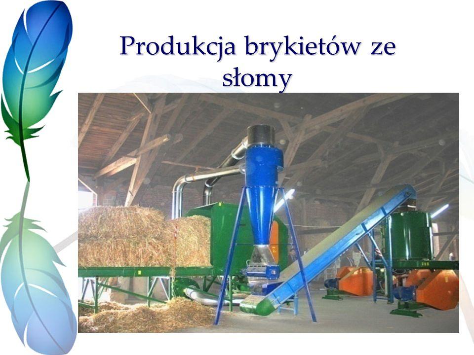 Produkcja brykietów ze słomy