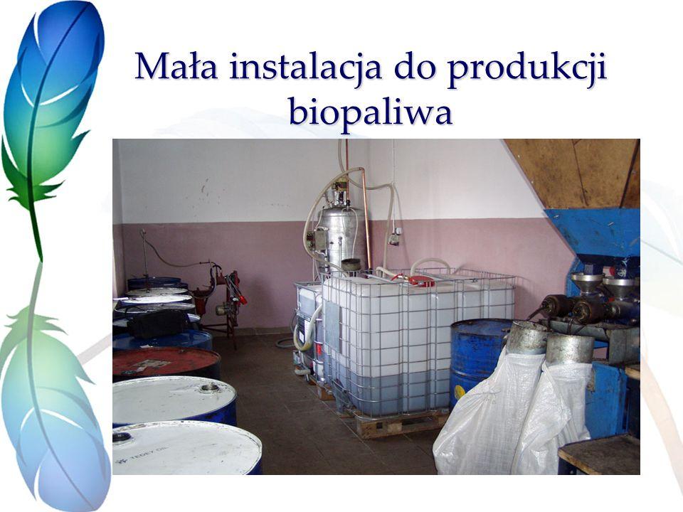 Mała instalacja do produkcji biopaliwa