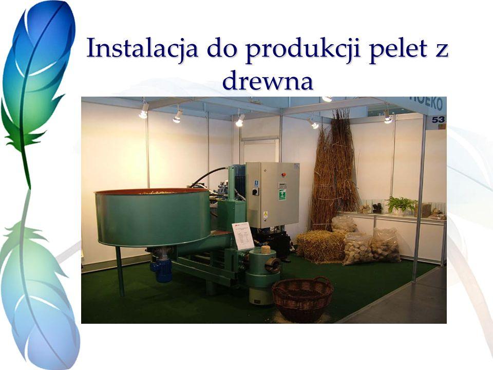 Instalacja do produkcji pelet z drewna
