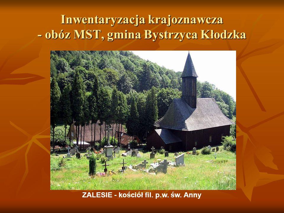 Inwentaryzacja krajoznawcza - obóz MST, gmina Bystrzyca Kłodzka