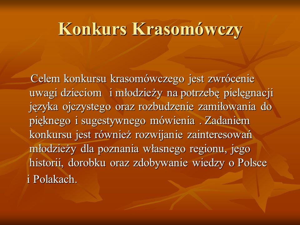 Konkurs Krasomówczy i Polakach.
