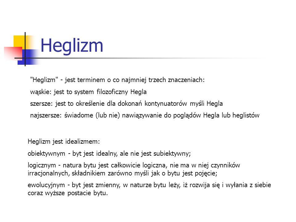 Heglizm Heglizm - jest terminem o co najmniej trzech znaczeniach:
