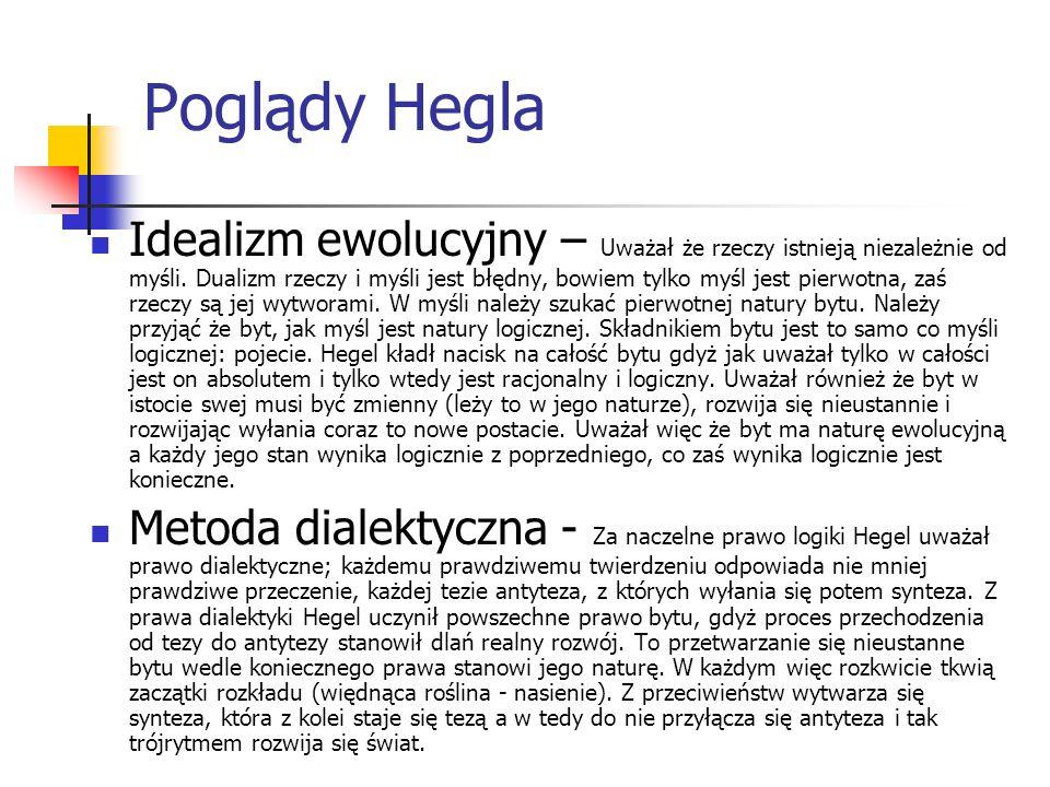 Poglądy Hegla