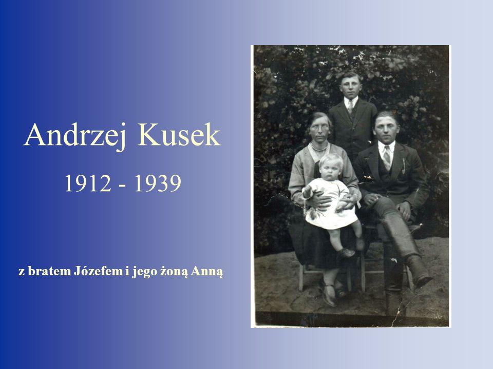 Andrzej Kusek 12 - 1939 z bratem Józefem i jego żoną Anną